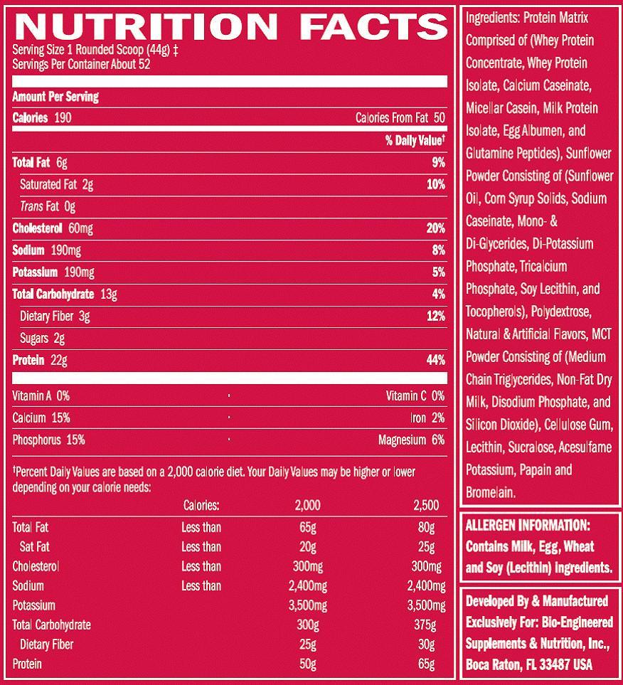 Sữa Tăng Cơ Phục Hồi CơSYNTHA-6 BSN 5 lbs fact